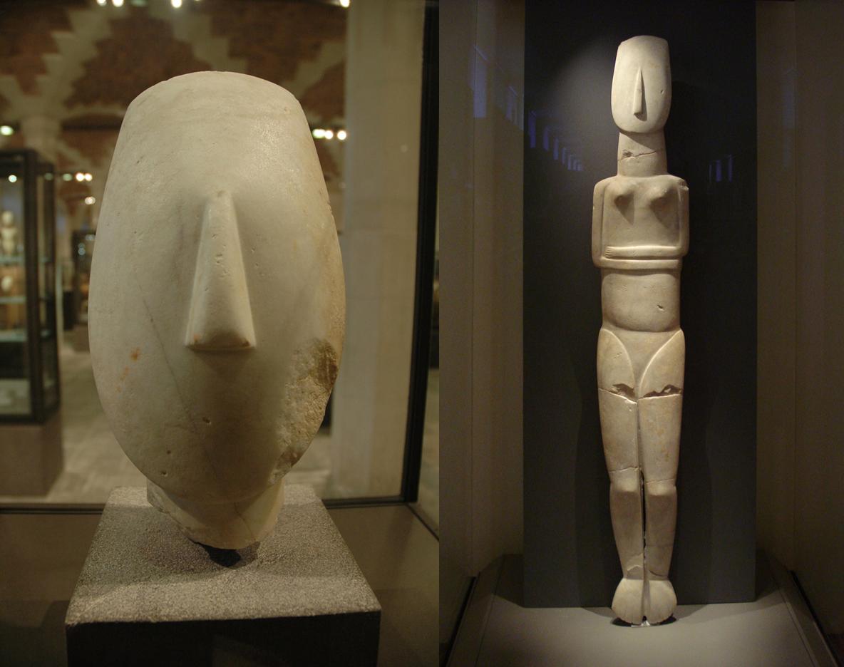 キクラデス文明の彫刻